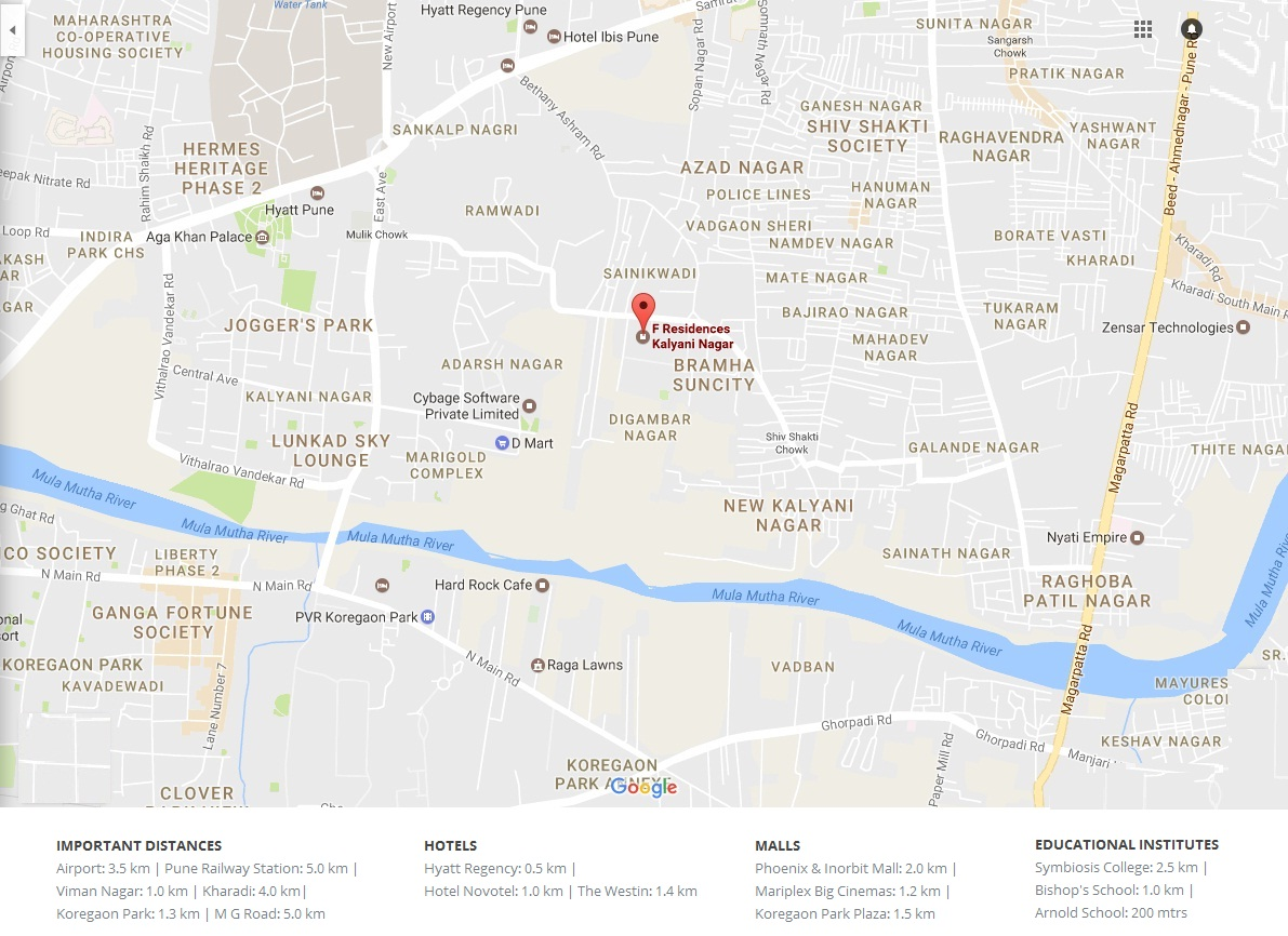 bramhacorp-f-residences-pune-map