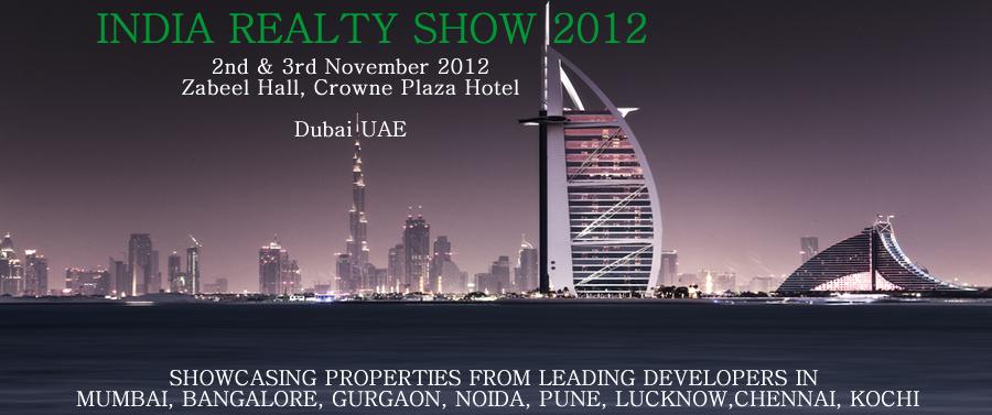 INDIA REALTY SHOW 2012 BANNER - Auric Acres Dubai UAE