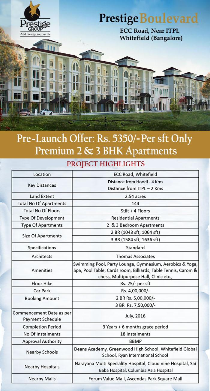 Prestige Boulevard Whitefield Bangalore
