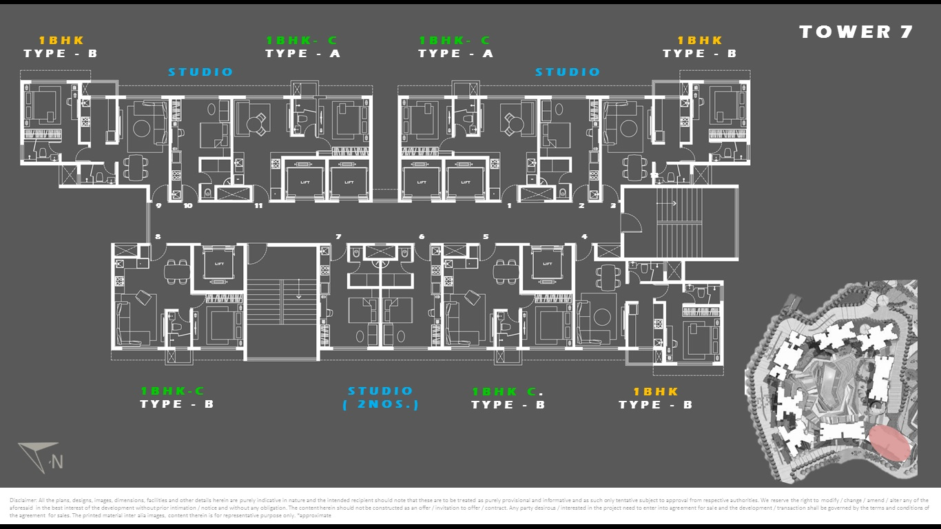 Tower 7 - Floor Plan