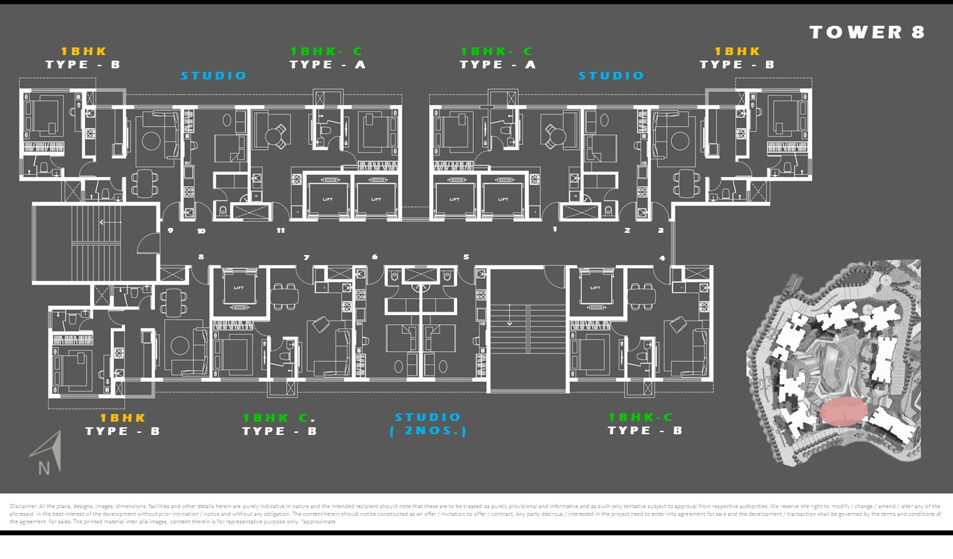 Tower 8 - Floor Plan